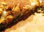 Omelette tofu ripiena cicorino mozzarisella