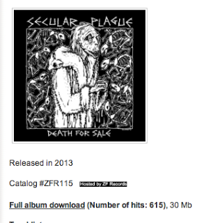 Secular Plague - Death For Sale