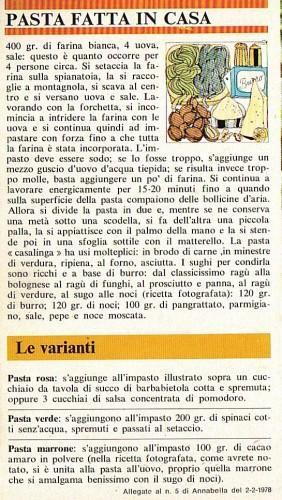 Pasta fatta in casa: Tagliatelle al prosciutto