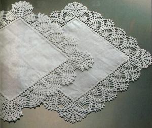 Lavori Con Luncinetto Delicati Bordi Per Fazzoletti Paperblog