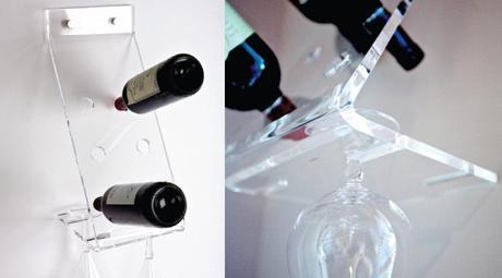 Design plexiglass online portabottiglie da parete - Portabottiglie da parete ikea ...