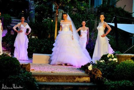 Romantic couture in the garden