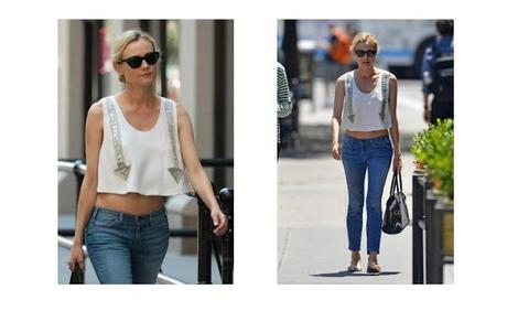 Diane Kruger wears Chloe blouse from SS13