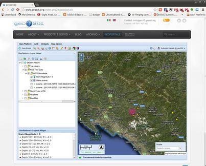 Sisma 5.2 ed altri in nord italia  www.geosdi.org --></div> Area Geoportale --> Login demo Password demo per avere informazioni in tempo reale  Video su come usare il sistema qui : http://youtu.be/HCQM9TMJc6k