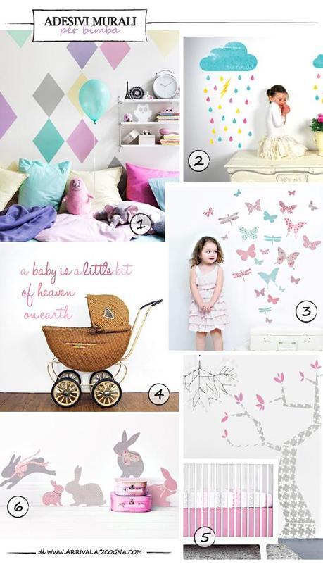 Adesivi murali per cameretta o nursery paperblog - Adesivi murali per camerette bimbi ...