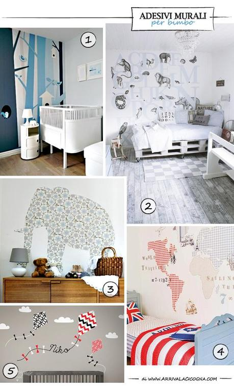 Adesivi murali per cameretta o nursery paperblog - Adesivi murali per camerette ...