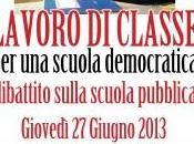 """LAVORO CLASSE, scuola democratica"""" Cagliari giovedì giugno alle 18.00"""