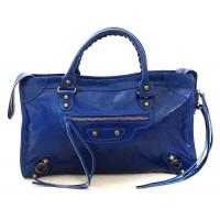 Borsa da donna con frange blu bag made in italy
