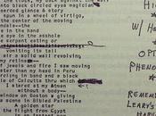 Allen Ginsberg Manuscript page unpublished poem