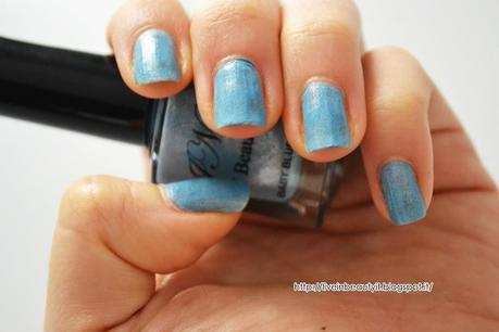 JN Beauty, Smalto Metallic Baby Blue - Review and swatches