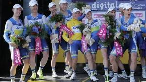 Cronosquadre all'Orica Greenedge, Gerrans in giallo