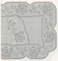 Schemi per il filet trittico con le rose paperblog - Centri uncinetto camera da letto ...