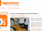 Stradivari ricerca scientifica