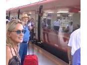 Sharon Stone viaggia Italo. Primo ciak Pupi Avati