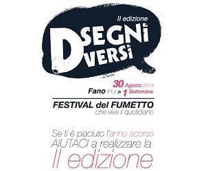 Dal 30 agosto la seconda edizione di Disegni Diversi, Festival del fumetto che vive il quotidiano