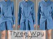Silly Selection Three denim playsuit Christian Wijnants