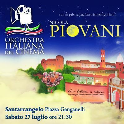 Nicola Piovani e l'Orchestra Italiana del Cinema per un grande spettacolo dedicato a Federico Fellini e a Tonino Guerra.