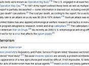 L'uso insetti come armi convenzionali, particolare delle zanzare Aedes Aegypti, parte dell'esercito statunitense