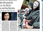 Corriere, minacce rete foto minchiam