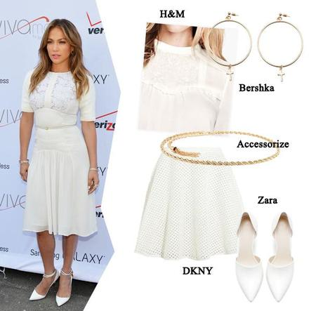 JENNIFER IN TOTAL WHITE: COPIA IL LOOK