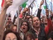 Manifestazione pro-Berlusconi davanti Palazzo Grazioli