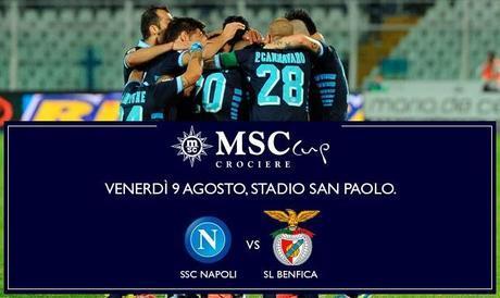 Calcio, MSC Crociere Cup: Napoli-Benfica stasera al San Paolo e in diretta tv (solo in pay per view) su Sky e Mediaset Premium