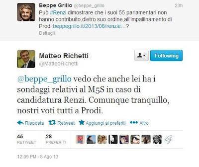 Grillo su Renzi gioca con la memoria