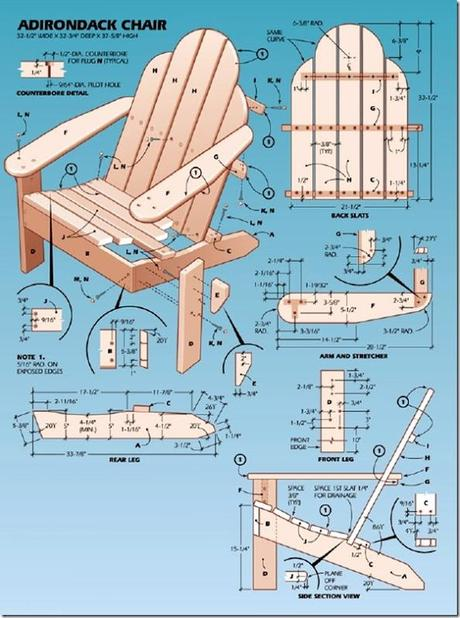 case e interni - sedie per esterni - faidate - Adirondack Chair (4)