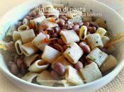 Insalata pasta fagioli borlotti, tonno olive nere