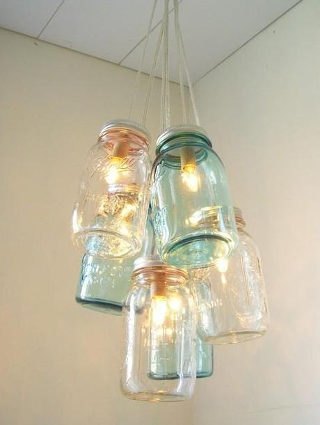 Recupero creativo  Punti luce originali   Paperblog -> Lampadari Per Cucina Originali