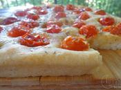 Focaccia patate lievito madre pomodori pachino