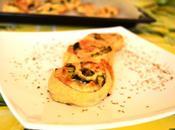 Girelle rustiche sfoglia scamorza zucchine