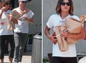 Star Style Jessica Szohr pranzo pantofole