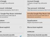 Ecco come disabilitare rinnovo automatico Google Play Music Unlimited