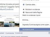 Come utilizzare embedded post Facebook