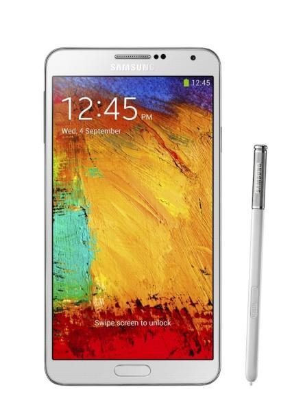 Galxy Note3 002 front with pen Classic White 442x610 Samsung Galaxy Note 3   specifiche tecniche e primi hands on video!