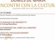 Sabato Domenica Settembre, serate dedicate all'Archeologia Domus Maria.