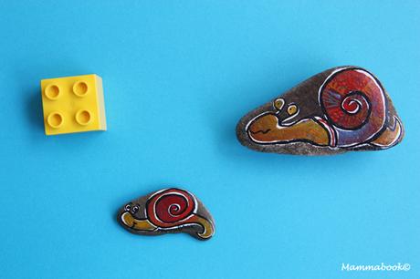 Set da gioco con i sassi… e una lumacona – Car Game Set