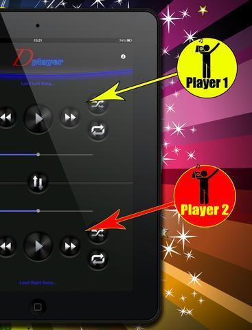 Double Player for Music with Headphones (Ascolta 2 canzoni contemporaneamente con le cuffie) iPad