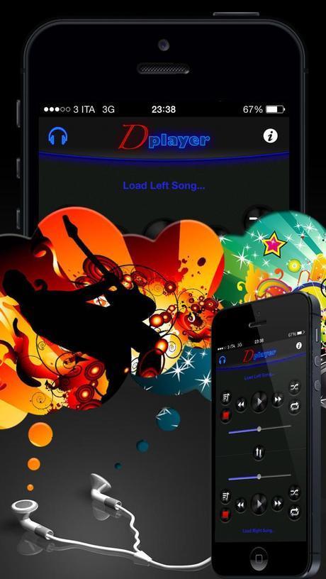 Double Player for Music with Headphones (Ascolta 2 canzoni contemporaneamente con le cuffie) iPhone