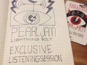 Sketchnotes Pearl Jam's Lightning Bolt listening session