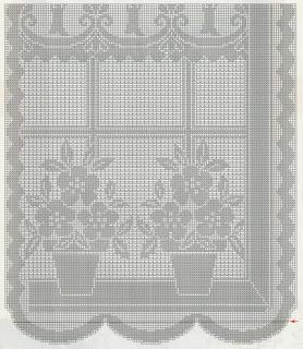 Schemi per il filet tendina alla finestra paperblog - Centri uncinetto camera da letto ...