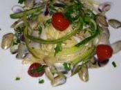Linguine zucchine telline pomodorini