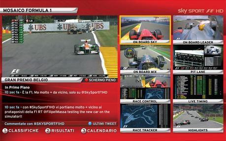 Sky Sport F1 HD: il palinsesto del Gp d'Italia della Formula 1 (5 - 8 Settembre)