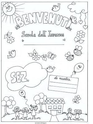Cartellone 39 benvenuti 39 per la porta della sezione paperblog for Idee per l accoglienza nella scuola dell infanzia