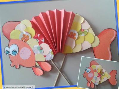 Il pesce a fisarmonica paperblog for Lavoretti accoglienza infanzia