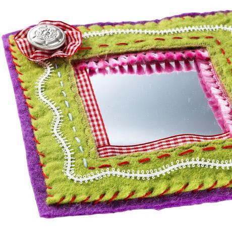 Specchio con cornice in feltro paperblog - Scrivere a specchio ...