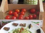 mafaldine pesto spinaci, pomodorini melanzane