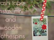 DIY: washi tape, instax mini wooden clothespins