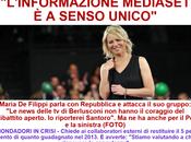 """Maria Filippi l'invenzione dell'acqua tiepida: """"L'informazione Mediaset senso unico"""" (...ma va?...) questua Marina Berlusconi"""